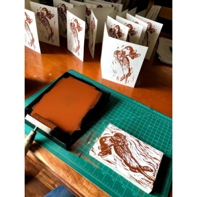 Hand-printed Notecards
